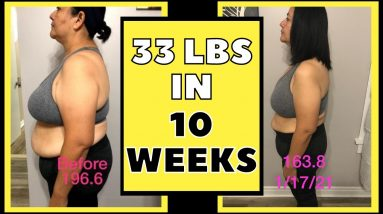 Lost 33 lbs in 10 Weeks (Keto & Intermittent Fasting Weight Loss Journey Results)