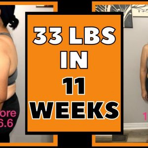Lost 33 lbs in 11 Weeks (Keto & Intermittent Fasting Weight Loss Journey Results)